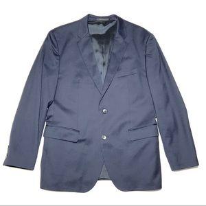 Hugo Boss Trim Fit Johnstons Lenon Wool Navy Coat